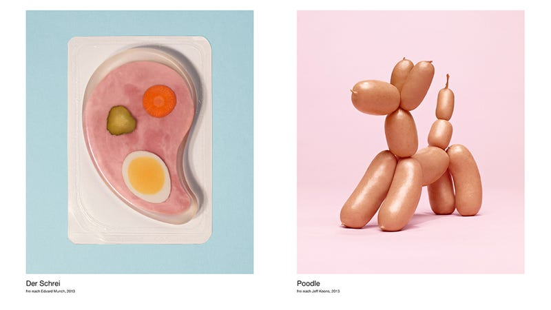 Illustration for article titled Here Are Famous Art Paintings Amazingly Recreated with Deli Meat