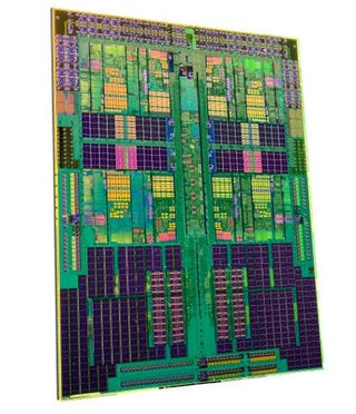 "Illustration for article titled AMD's Quad-Core ""Shanghai"" Server Opterons Go 45nm, Desktop Version In '09"