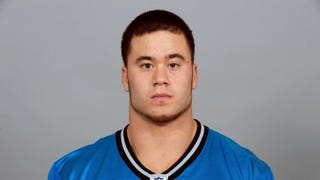 Daniel Holtzclaw, a former college football player and onetime member of the Detroit Lions, poses for his 2009 NFL headshot at photo day in Detroit. Holtzclaw, who later joined the Oklahoma City Police Department, has been accused of sexually assualting eight black women while on duty. NFL Photos