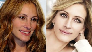 Illustration for article titled Julia Roberts' Make-Up Adverts Banned For Being Too Photoshopped