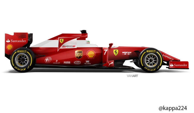 Illustration for article titled Ferrari Might Go With This Super-Tasteful Retro F1 Livery: Report