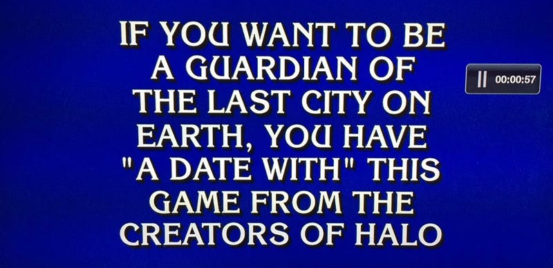 Illustration for article titled Destiny Was On Tonight's Episode Of Jeopardy