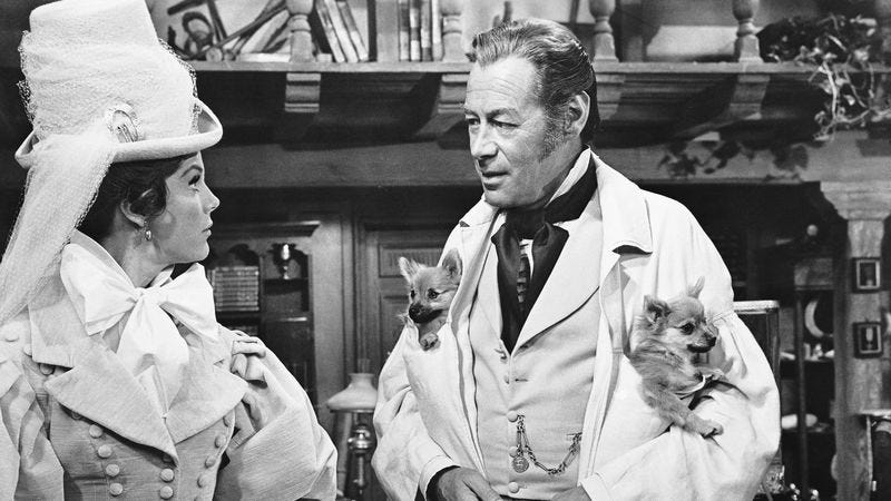 Samantha Eggars and Rex Harrison in 1967's Doctor Doolittle (Photo: Bettmann/Getty Images)
