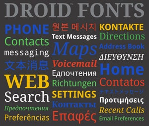 android fonts