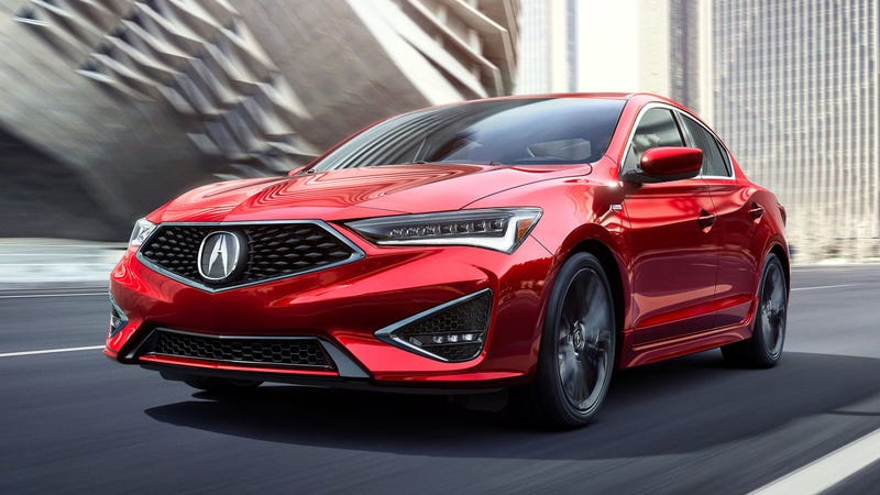 Illustration for article titled Shockingly, there is a 2019 Acura ILX, and it's still the same old previous-generation Civic, but now it has a Superman grille