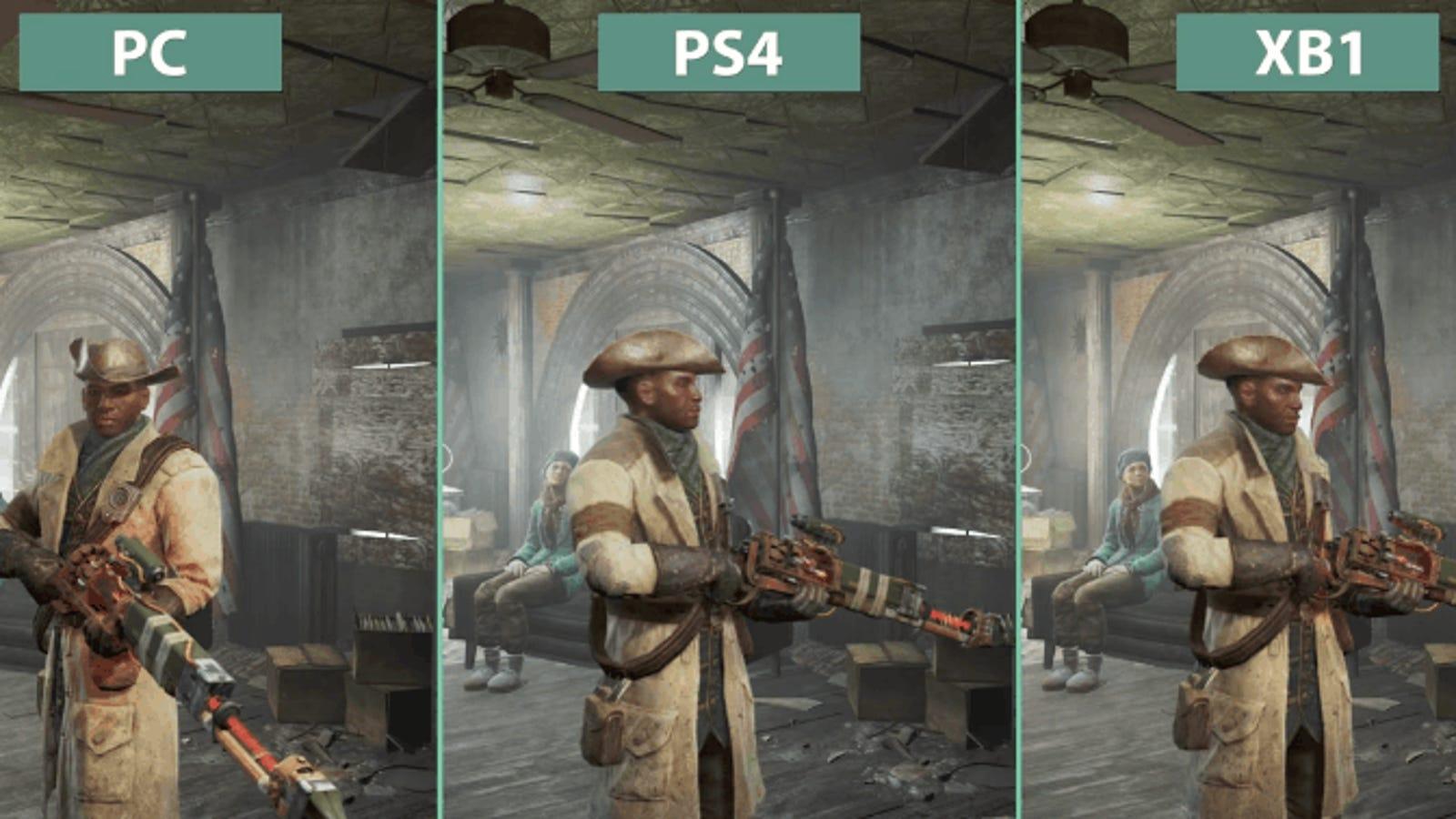 La calidad gráfica de Fallout 4 en PC, PlayStation 4 y Xbox One, comparadas cara a cara