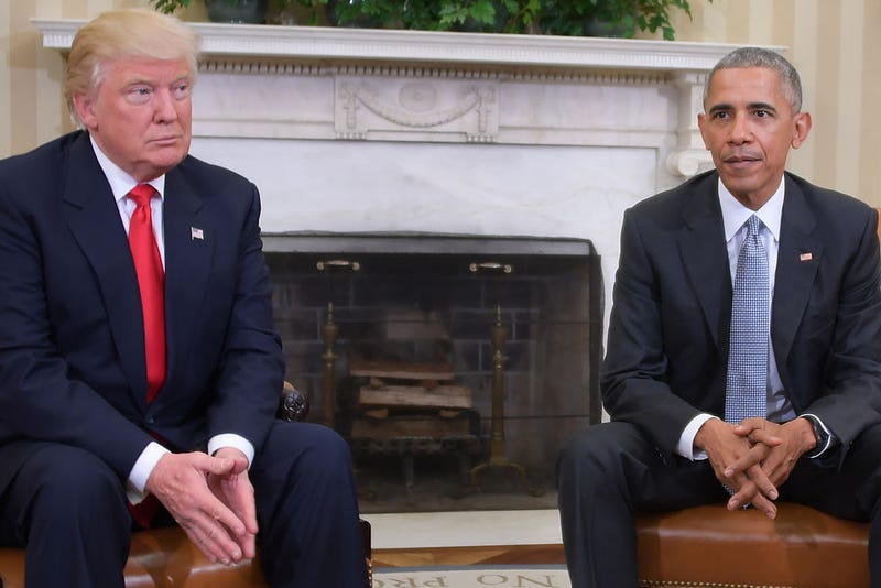 Then-President-elect Donald Trump and President Barack Obama (Jim Watson/AFP/Getty Images)