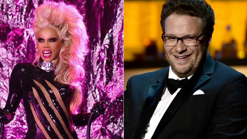 Illustration for article titled Seth Rogen and RuPaul Have a Sensual Connection Involving Masturbation