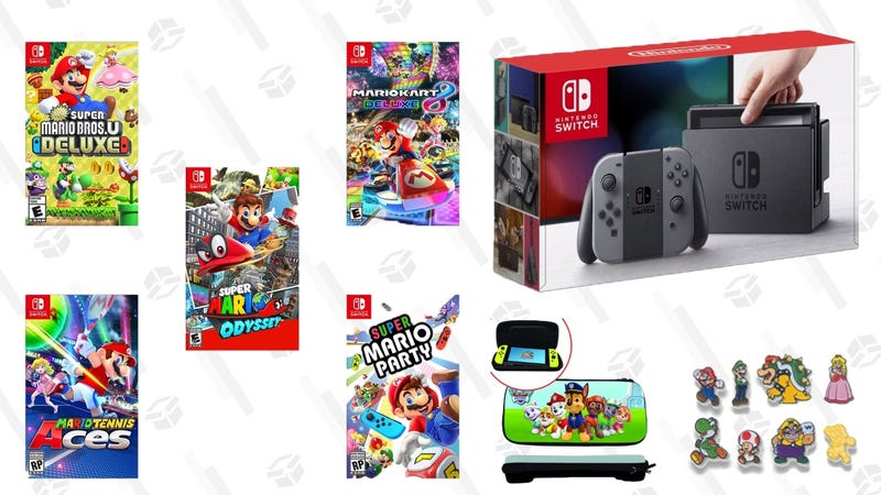 Nintendo Switch Bundle (Console, Game, Pins and Paw Patrol case) | $319 | Walmart