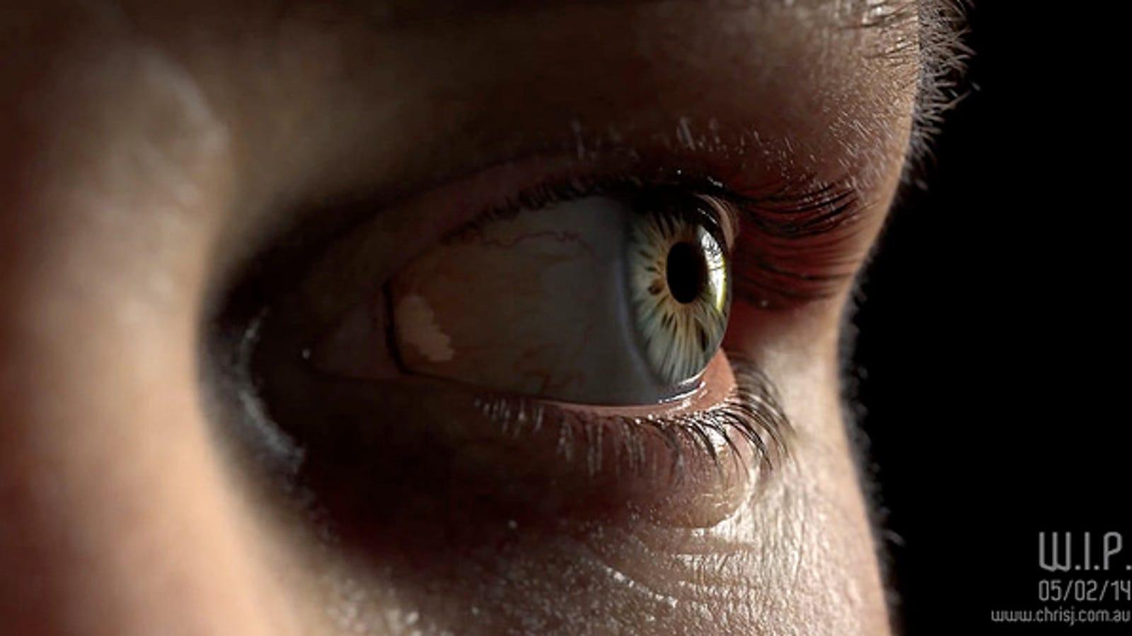Este ojo no es real, está generado por ordenador