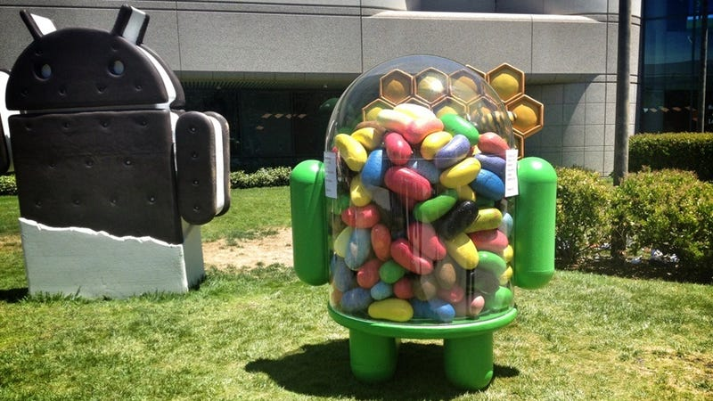 Illustration for article titled This Is the New Android Jelly Bean Mascot—Just Installed at Google's Headquarters