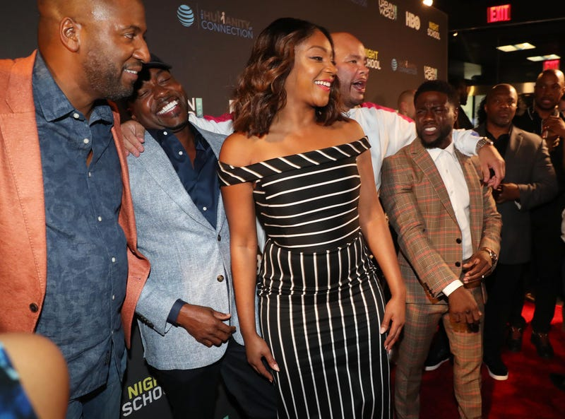 (L-R) Malcolm D. Lee, Will Packer, Tiffany Haddish, Fat Joe and Kevin Hart attend the 2018 Urbanworld Film Festival on Sept. 19, 2018 in New York City.