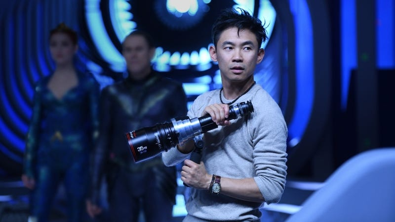 Director James Wan on the set of DC's latest film, Aquaman.