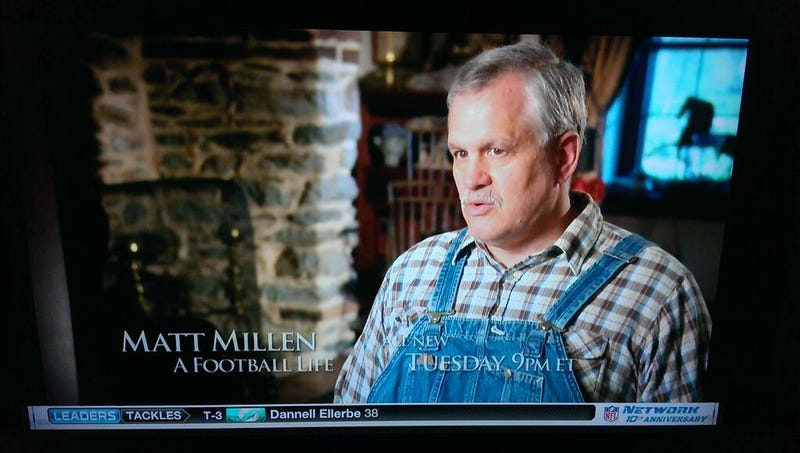 Illustration for article titled A Very Important Picture Of Matt Millen Wearing Overalls