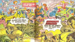 Illustration for article titled Fast Food is Bad for Comics, Says Judge Dredd