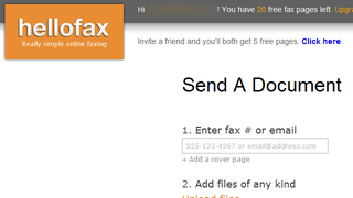 Illustration for article titled Hellofax Sends the Occasional Fax For Free