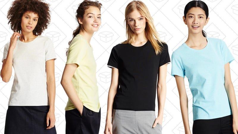 Women's Supima Cotton Crew Neck T-Shirt, 4 for $30