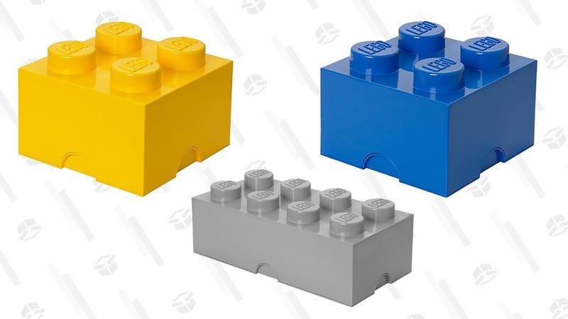 LEGO Storage Brick 4 (Bright Yellow) | $14 | AmazonLEGO Storage Brick 8 (Stone Grey) | $25 | AmazonLEGO Storage Brick 4 (Blue) | $14 | Amazon