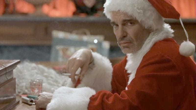 Illustration for article titled Two versions of Bad Santa's opening scene create different expectations