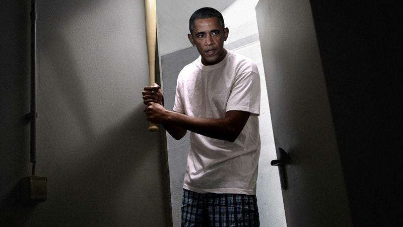 Illustration for article titled Obama Sleeping With Louisville Slugger Under Bed Now