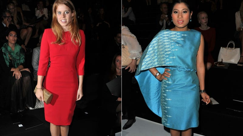 Illustration for article titled Princess Beatrice Snubs Fellow Princess At Fashion Show