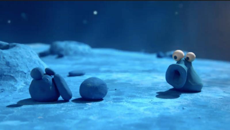 Un encantador extraterrestre solitario del corto Once in a Blue Moon. Captura de pantalla: Vimeo