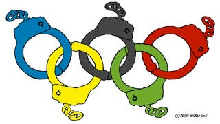 Illustration for article titled Posting A Facebook Photo From The London Olympics Could Land You In Court