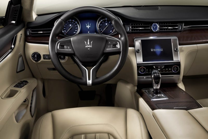 Illustration for article titled Who Cares If The New Maserati Quattroporte Has Chrysler Switches?