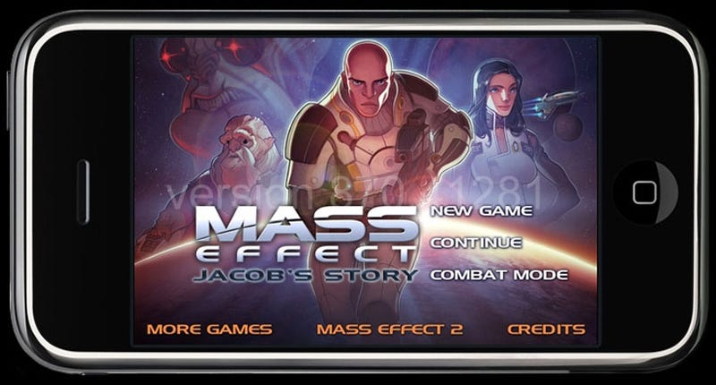 Illustration for article titled Mass Effect On The iPhone Will Tell Jacob's Story