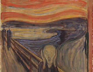 Illustration for article titled Does The Scream depict a real-life volcano explosion?