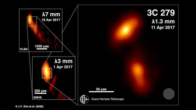 Earth-Spanning Telescope Takes Unprecedented Image of Black Hole Spewing Radiation