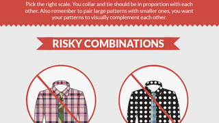 Illustration for article titled This Cheat Sheet Teaches You How to Match Shirt and Tie Patterns