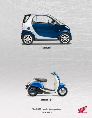 Illustration for article titled Honda Gets Smart With Scooter Ad