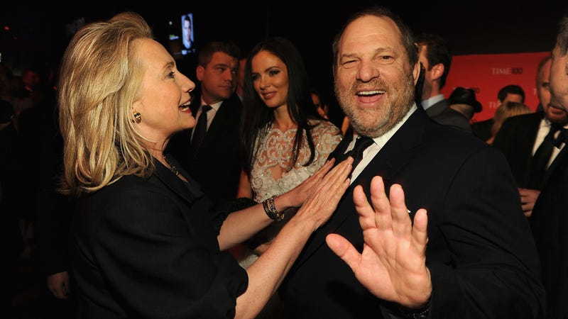 Harvey Weinstein with Hillary Clinton in 2012. Image via Getty.