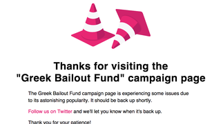 The Campaign to Crowdfund Greece's Bailout Has Crashed Indiegogo
