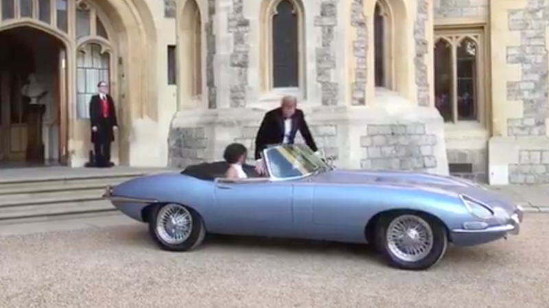Illustration for article titled The Best Part Of The Royal Wedding Is Definitely This Jaguar E-Type Concept Zero