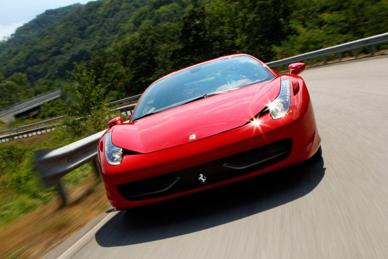 Illustration for article titled Ferrari 458 Italia Hits The Road, Reveals Interior