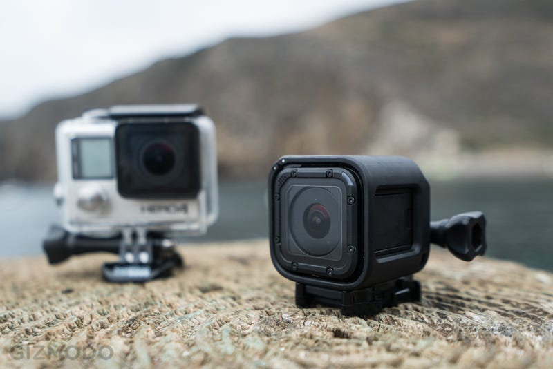 GoPro HERO4 Session + Remote + 32GB MicroSD Card + Carrying Case, $200 for Prime members