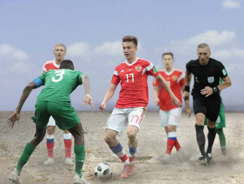 Illustration for article titled Moscow Officials Deny Accusations Of Money Laundering After World Cup Game Played In $1.2 Billion Vacant Gravel Lot