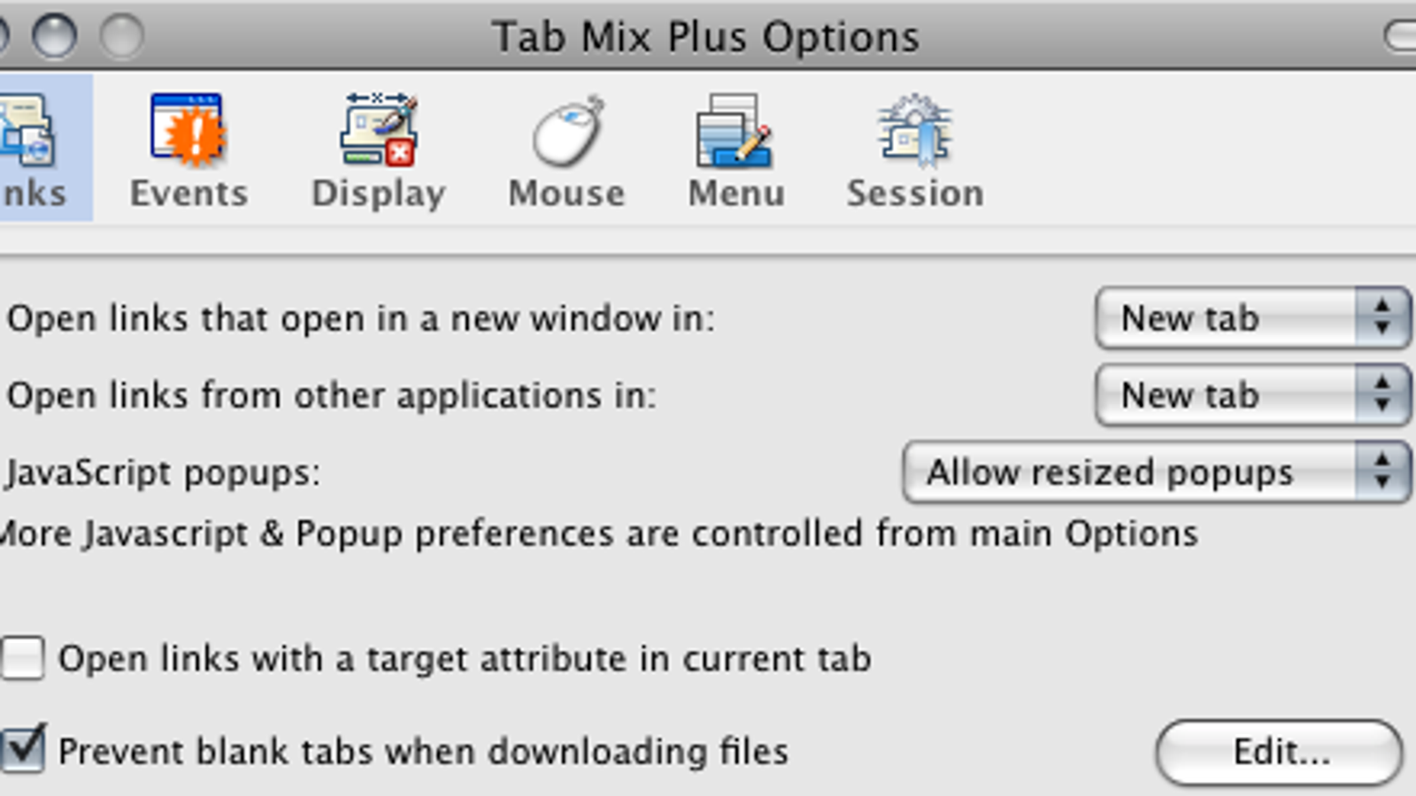 Tab Mix Plus Updates for Firefox 3
