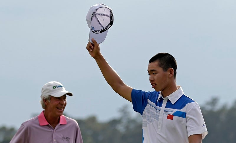 Illustration for article titled Your Primer On 14-Year-Old Tianlang Guan's Prodigious 1-Over Day At Augusta National