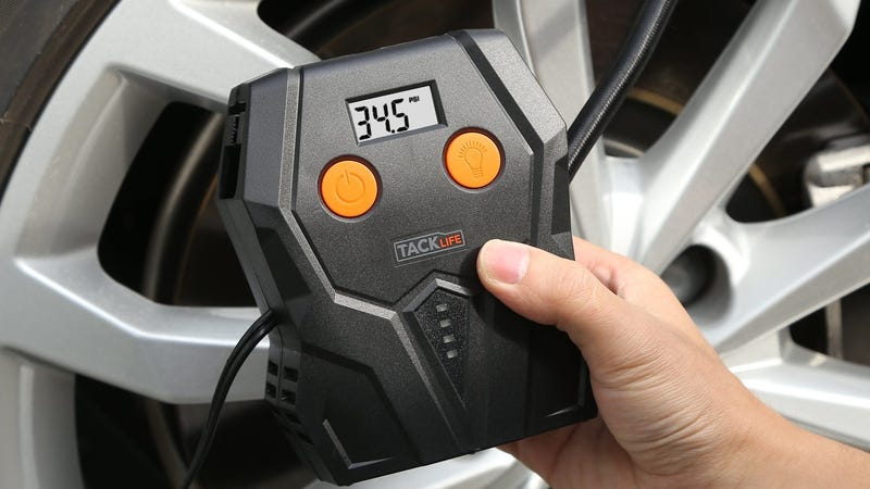 Tacklife 12-Volt Tire Inflator | $10 | Amazon | Promo code ONLY400P