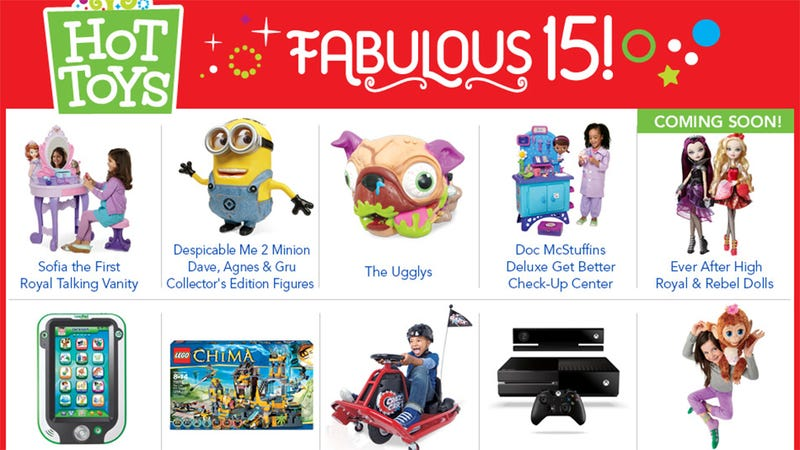Illustration for article titled Xbox One And PS4 Make Toys'R'Us' Hot Toy List. Only One Is Fabulous.