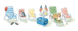 Illustration for article titled The Independence Day Doodle has Doge in it