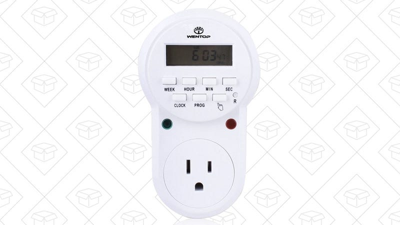WenTop Digital Programmable Timer Outlet Switch, $11