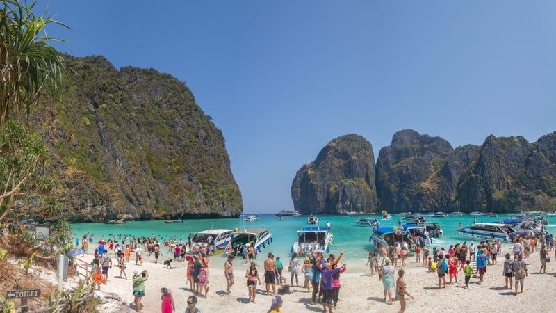 Illustration for article titled Tailandia cierra su playa más famosa por los estragos que causan los turistas