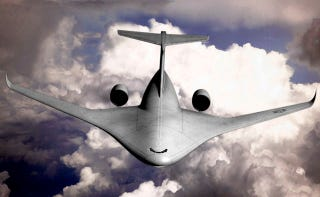 Illustration for article titled Lockheed Moves Foward With Big Blended Wing Hybrid Transport Jet Design