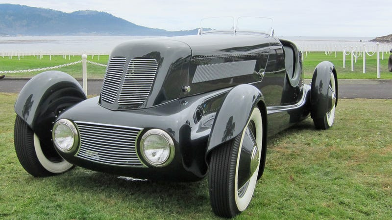 Illustration for article titled Edsel Ford's hotrod, once hidden for 41 years, reappears at Pebble Beach