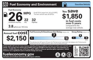 Illustration for article titled This is the new fuel economy sticker