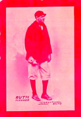 Illustration for article titled This Is What A $500,000 Babe Ruth Rookie Card Looks Like